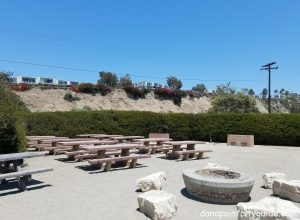 firepit and picnic tables doheny state beach south campground dana point city guide